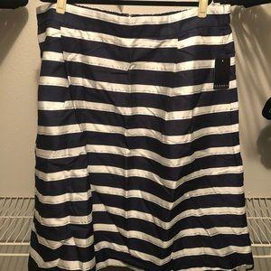 Eloquii Skirts - Eloquii Striped Midi Circle Skirt